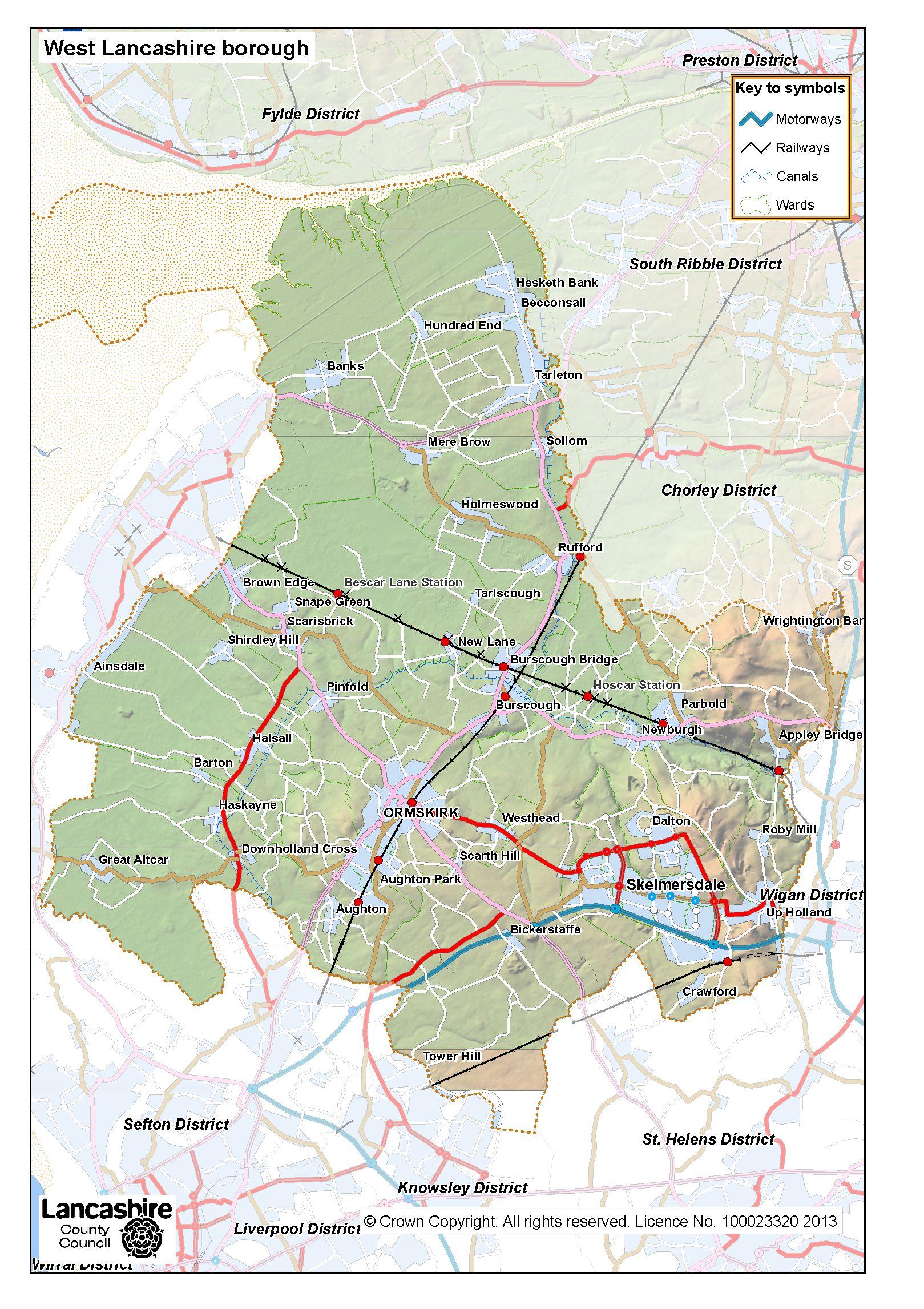 West Lancashire district - Lancashire County Council