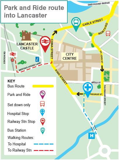 Map Of England Lancaster.Lancaster Park And Ride Lancashire County Council