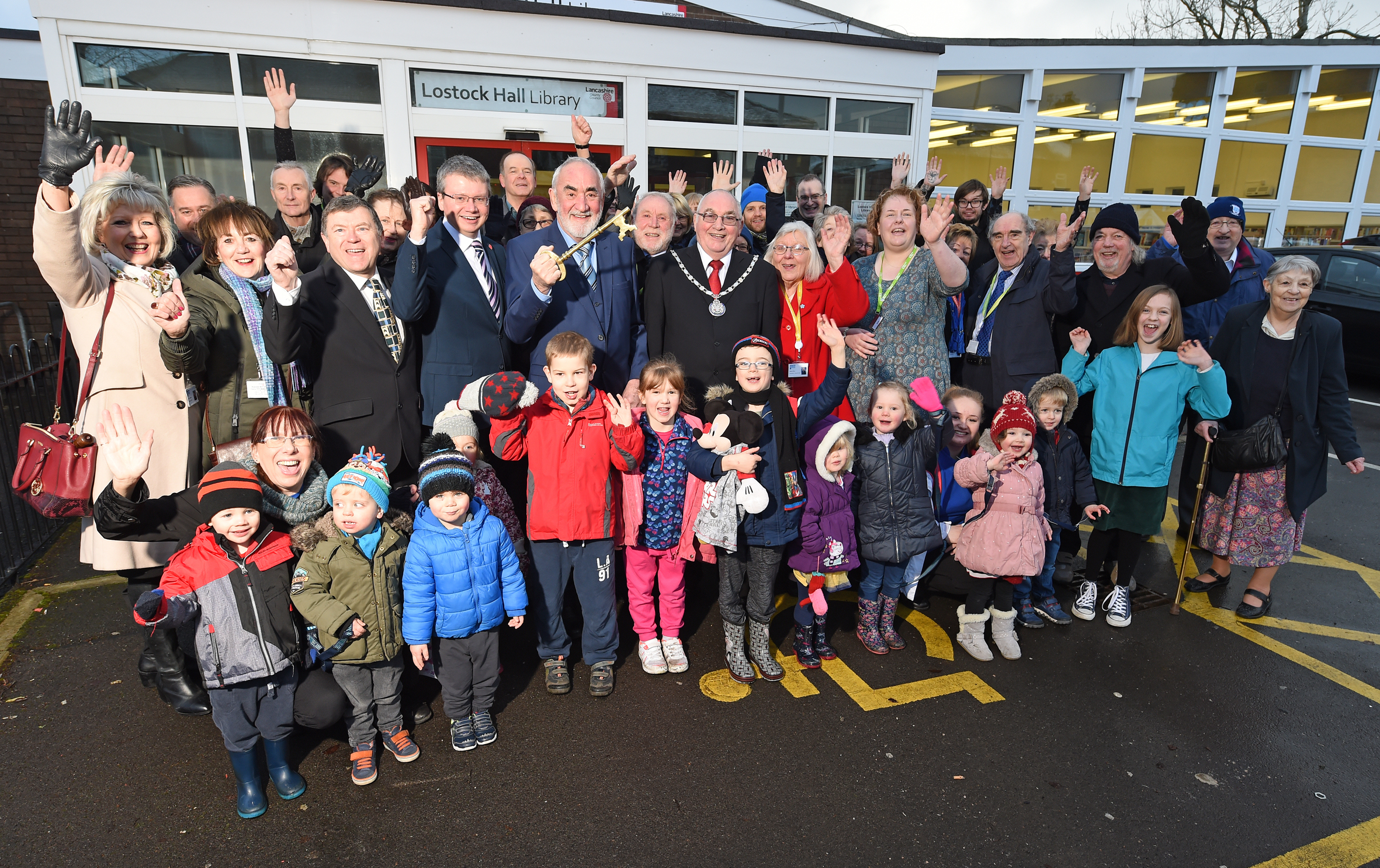 The public of Lostock Hall are delighted the library is reopening