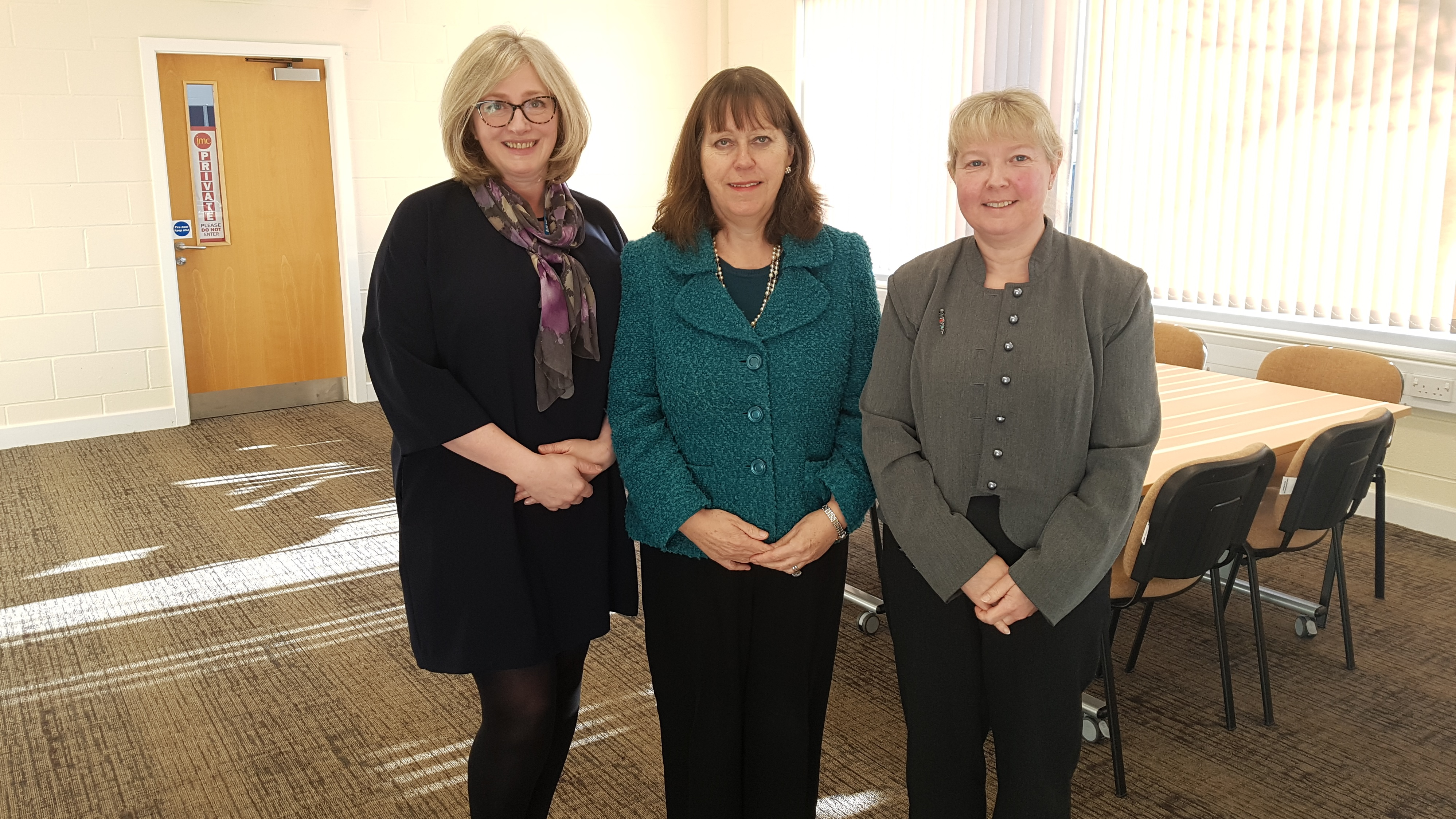 Left to right Dr Julia Higgins, Edwina Grant OBE and Hilary Fordham Chief Executive Officer, Morecambe Bay CCG