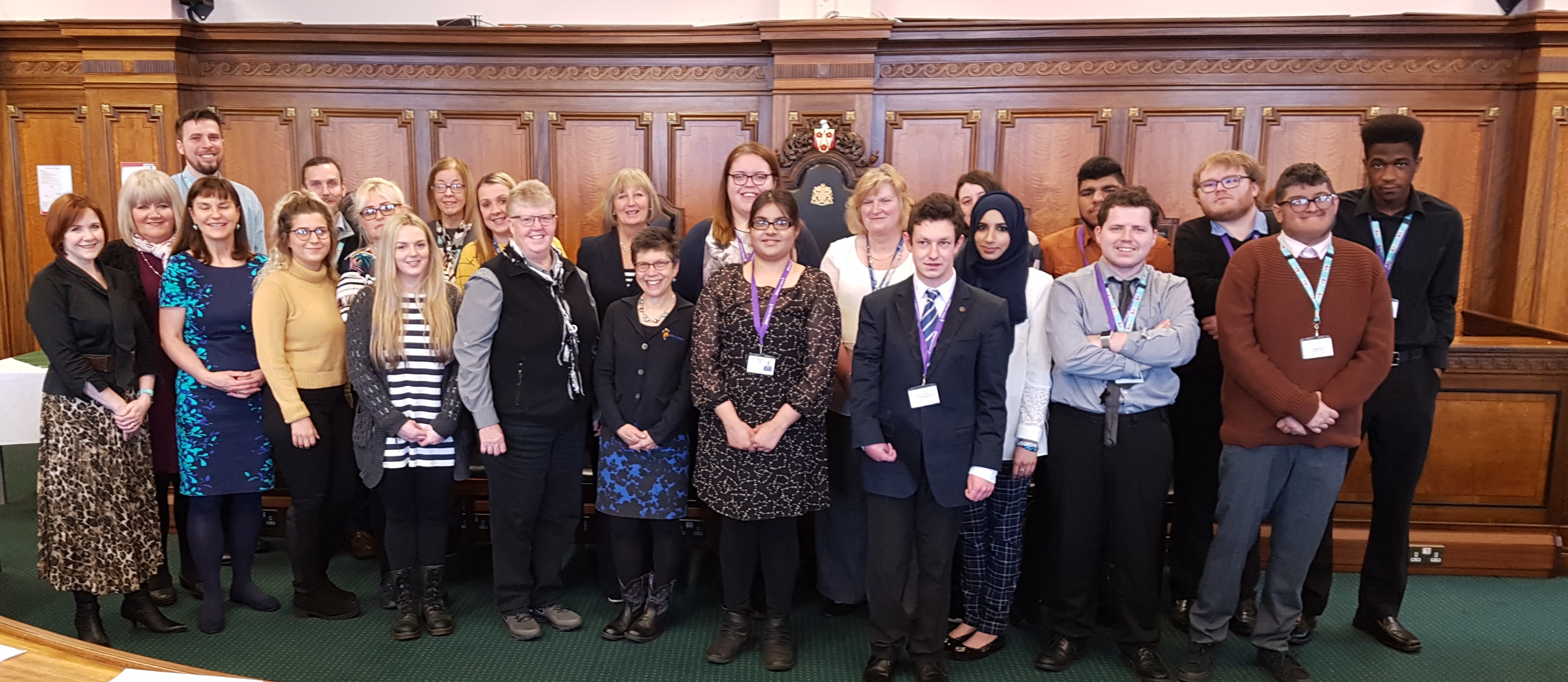 Students and staff from Preston's College, the founders of Project SEARCH and Council colleagues