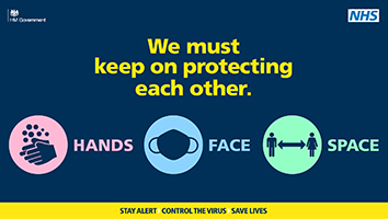 We must keep on protecting each other. Hands Face Space.